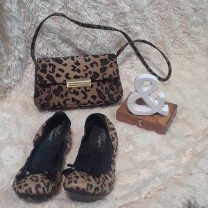 Leopard SET (Handbag and Ballet Flats)